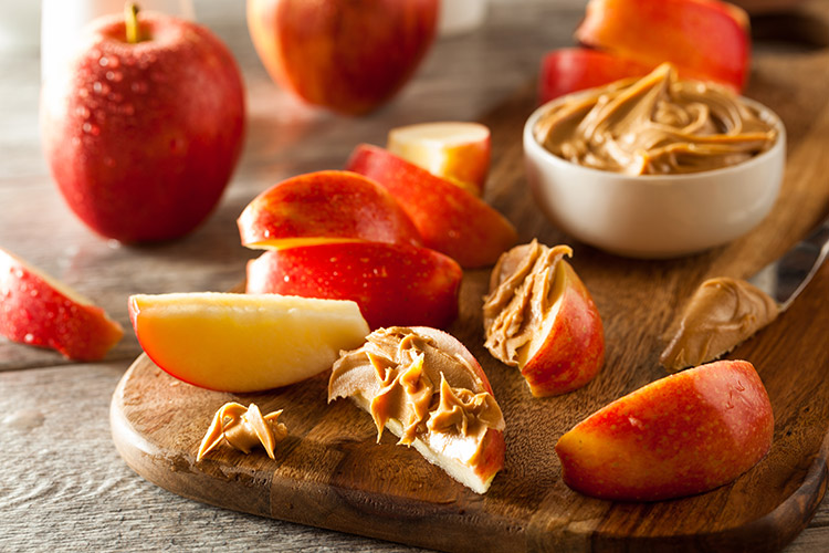 Apple and Peanut Butter Stack snacks for kids