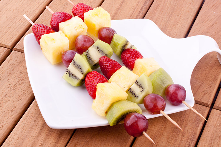 Fruit Kebabs snacks for kids