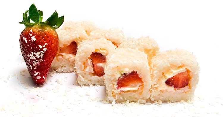 snacks for kids strawberry sushi