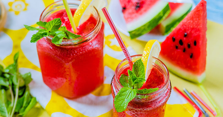 snacks for kids watermelon lemonade